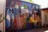 Foto del mural homenaje a la Democracia en el patio de la sede del HCD (2)